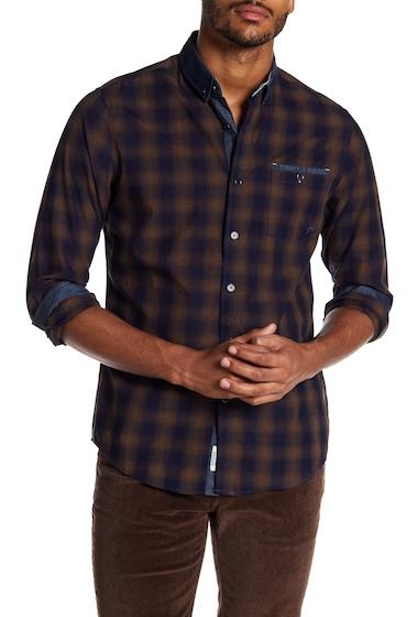 Imbracaminte Barbati Report Collection Shadow Plaid Slim Fit Shirt BRONZE