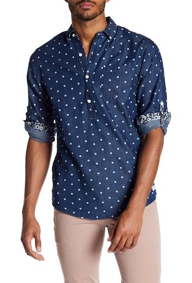 Imbracaminte Barbati Report Collection Denim Dot Slim Fit Shirt INDIGO
