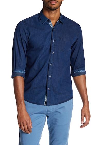 Imbracaminte Barbati Report Collection Striped Indigo Slim Fit Sport Shirt INDIGO