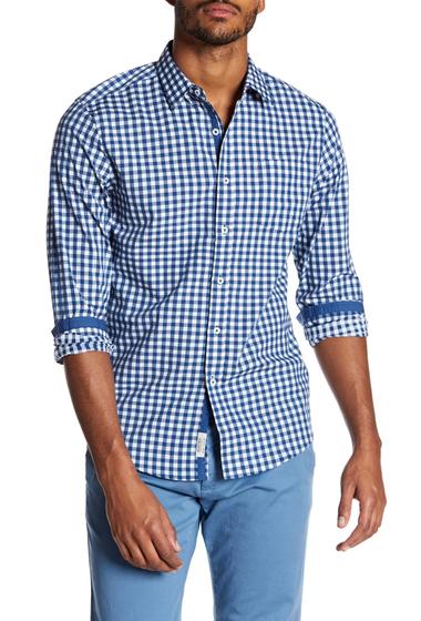 Imbracaminte Barbati Report Collection Plaid Sport Slim Fit Shirt NAVY