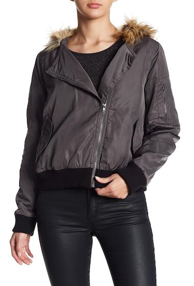 Imbracaminte Femei BB Dakota Powell Faux Fur Trim Hooded Jacket CHARCOAL G