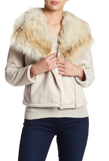 Imbracaminte Femei BB Dakota Claver Faux Fur Trim Faux Shearling Lined Jacket BONE