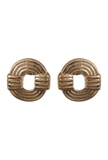 Bijuterii Femei Melrose and Market Etched Cutout Circle Stud Earrings GOLD