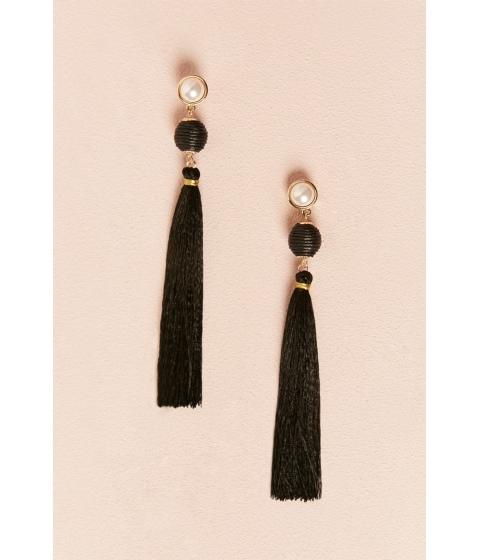 Bijuterii Femei Forever21 Faux Pearl Tassel Drop Earrings GOLDBLACK