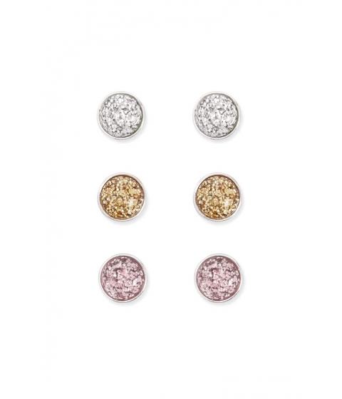Bijuterii Femei Forever21 Glitter Dome Stud Earring Set SILVERPINK