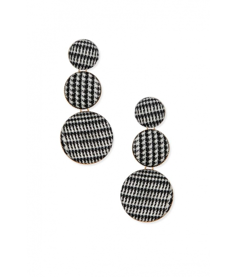 Bijuterii Femei Forever21 Houndstooth Drop Earrings BLACKGOLD