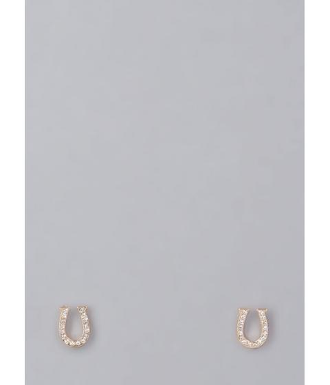 Bijuterii Femei CheapChic U Got It Jeweled Horseshoe Earrings Gold
