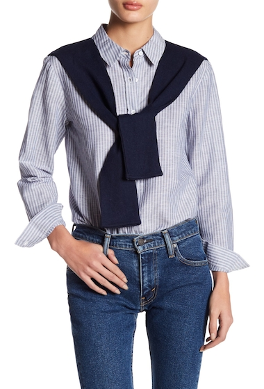 Imbracaminte Femei English Factory Combo Knit Stripe Shirt BLUE AND WHITE