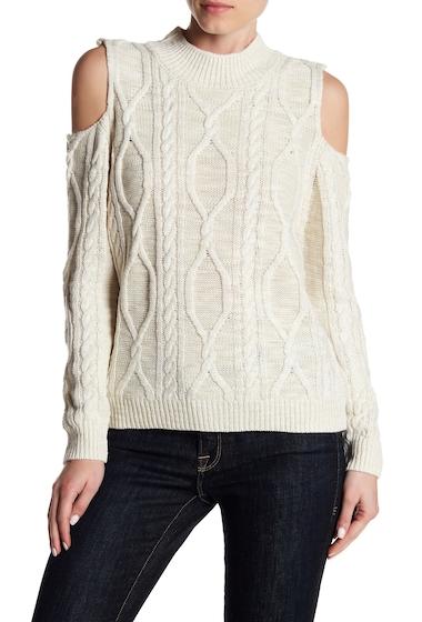 Imbracaminte Femei Dex Long Sleeve Cold Shoulder Knit Sweater 11008-CREAM HEATHER