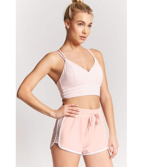 Imbracaminte Femei Forever21 Active Stripe Contrast Shorts BLUSHWHITE