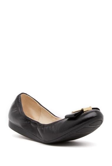 Incaltaminte Femei Cole Haan Emory Bow Ballet II Flat BLACK LEAT