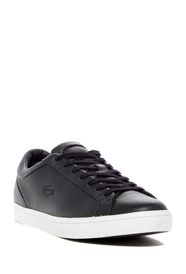 Incaltaminte Barbati Lacoste Straightset 316 1 Leather Sneaker BLACK