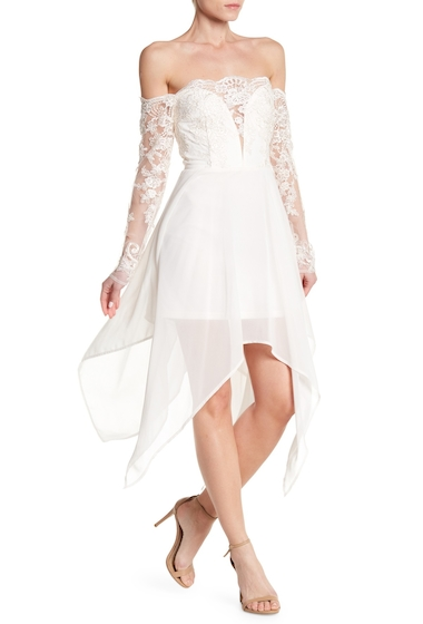 Imbracaminte Femei Soieblu Off-the-Shoulder Lace Midi Dress CREAM