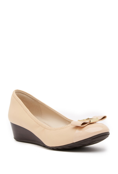Incaltaminte Femei Cole Haan Emory Bow Wedge Pump NUDE LEATH