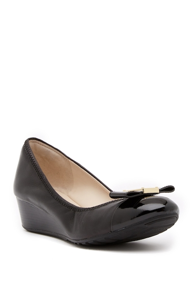 Incaltaminte Femei Cole Haan Emory Bow Wedge Pump BLACK LEAT