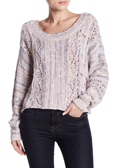 Imbracaminte Femei Melrose and Market Dolman Spacedye Sweater PINK TROPICS COMBO