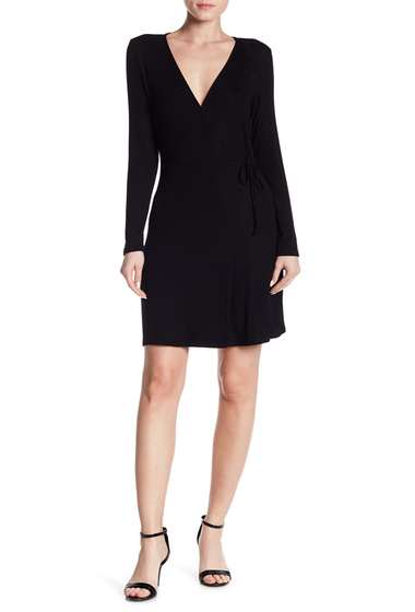 Imbracaminte Femei Abound Rib Wrap Dress BLACK