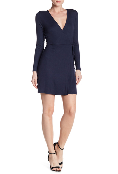 Imbracaminte Femei Abound Rib Wrap Dress NAVY PEACOAT