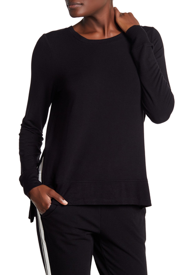 Imbracaminte Femei Marc New York Hi-Lo Long Sleeve Tee BLACK