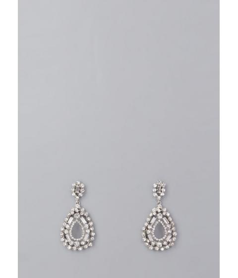 Bijuterii Femei CheapChic Drop A Hint Faux Diamond Earrings Silver
