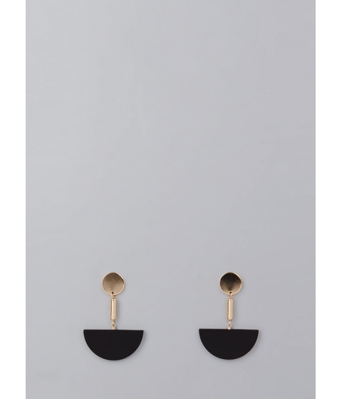 Bijuterii Femei CheapChic Come Half Circle Geometric Earrings Black