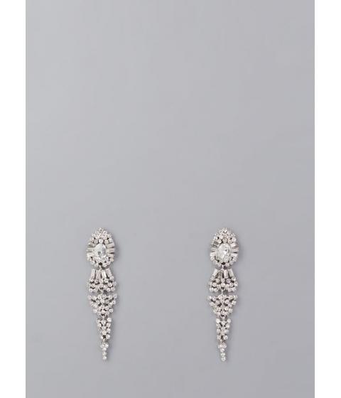 Bijuterii Femei CheapChic Dripping In Diamonds Faux Jewel Earrings Silver