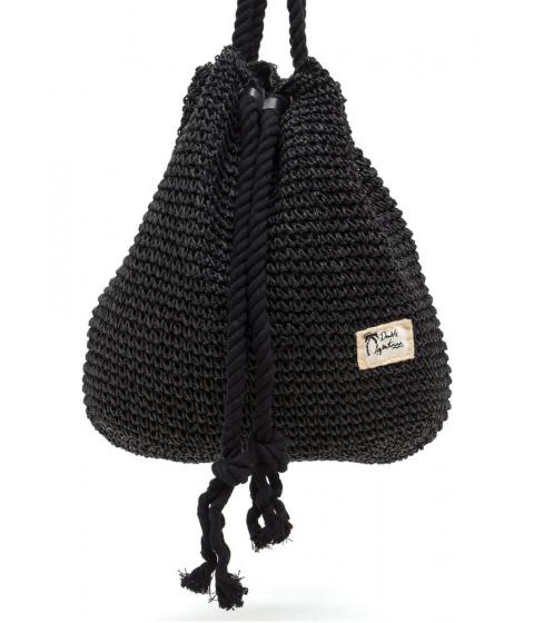 Accesorii Femei CheapChic Nautical Charm Woven Straw Backpack Black
