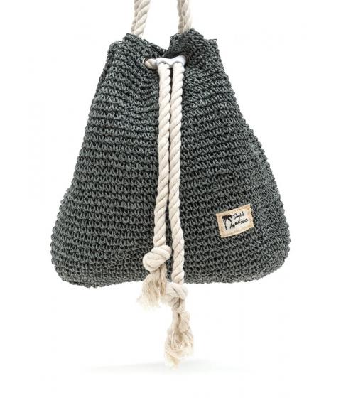 Accesorii Femei CheapChic Nautical Charm Woven Straw Backpack Grey