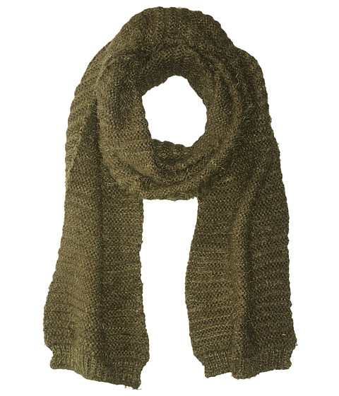 Accesorii Femei BCBGeneration Horizontal Rib Feather Long amp Skinny Scarf Dusty Olive