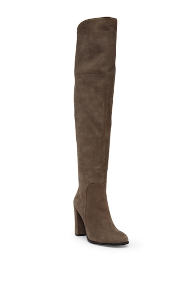 Incaltaminte Femei Kenneth Cole New York Jack Over-the-Knee Suede Leather Boot CEMENT