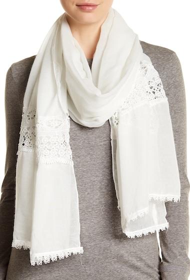 Accesorii Femei Melrose and Market Crochet Trim Scarf WHITE