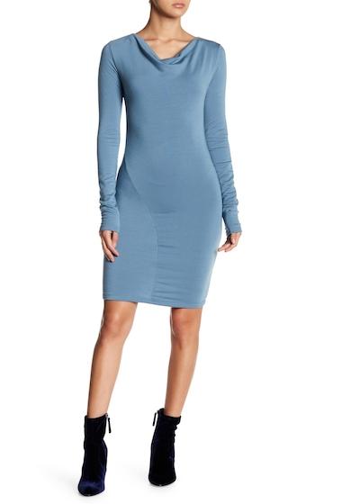 Imbracaminte Femei Go Couture Drape Neck Knit Dress LIGHT BLUE