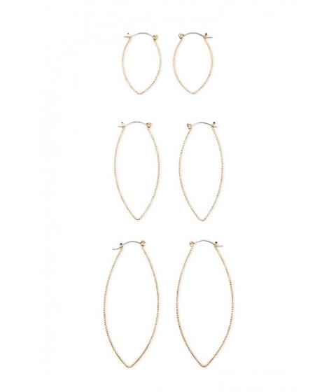 Bijuterii Femei Forever21 Braided Oval Hoop Earring Set GOLD