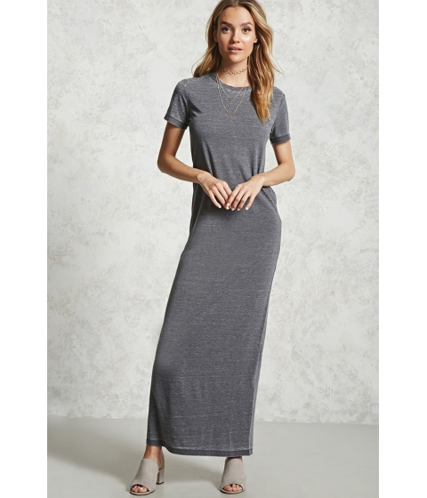 Imbracaminte Femei Forever21 Burnout T-Shirt Maxi Dress CHARCOAL