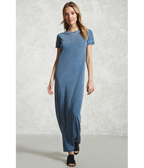Imbracaminte Femei Forever21 Burnout T-Shirt Maxi Dress NAVY