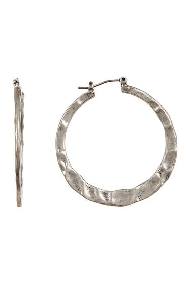 Bijuterii Femei Melrose and Market 30mm Textured Hoop Earrings RHODIUM