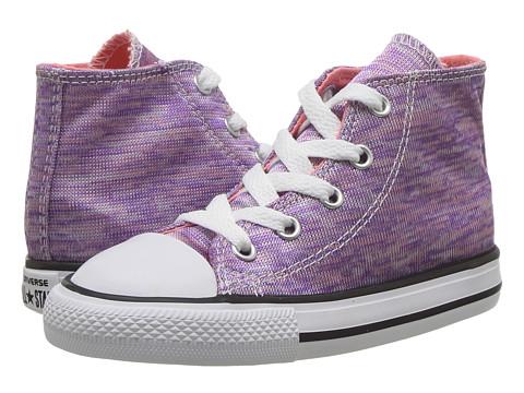 Incaltaminte Fete Converse Chuck Taylor All Star Jersey Knit Hi (InfantToddler) Bright VioletSunblushWhite