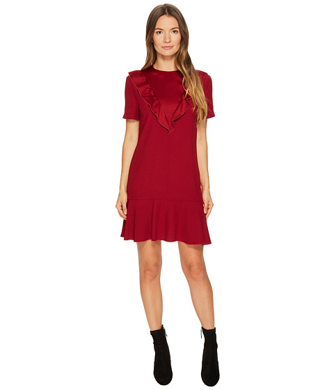Imbracaminte Femei Red Valentino Crepe Envers Satin Dress Cherry