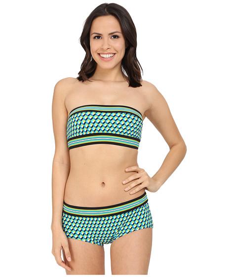 Imbracaminte Femei Michael Kors Mini Deco Cube Bandeau Bra w Bikini Boyshorts Turquoise Multi