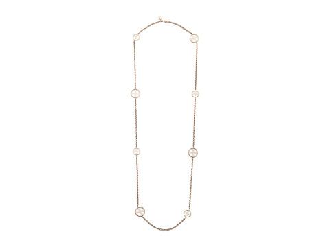 Bijuterii Femei Michael Kors Monogram Disc Station Necklace Rose Gold