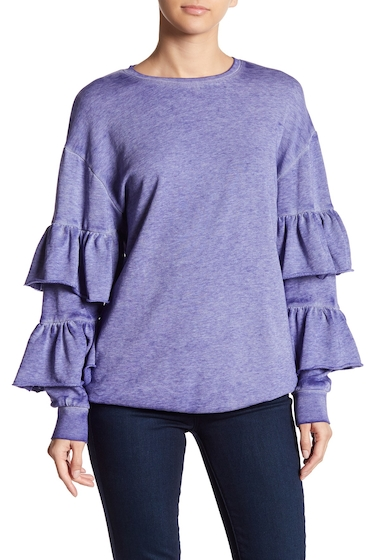 Imbracaminte Femei Abound Ruffle Sleeve Brushed Knit Top BLUE SPECTRUM