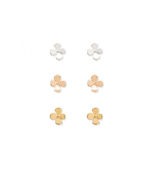 Bijuterii Femei Forever21 Floral Stud Earring Set GOLDSILVER