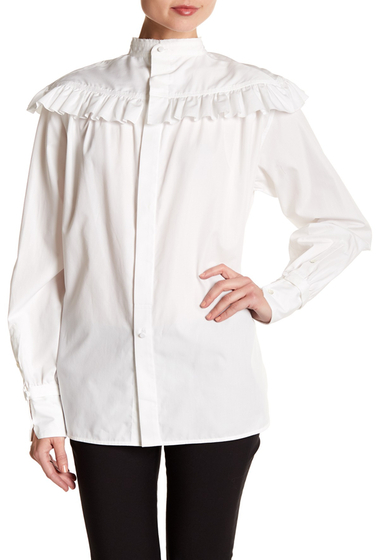 Imbracaminte Femei Helmut Lang Ruffle Ottoman Shirt WHT