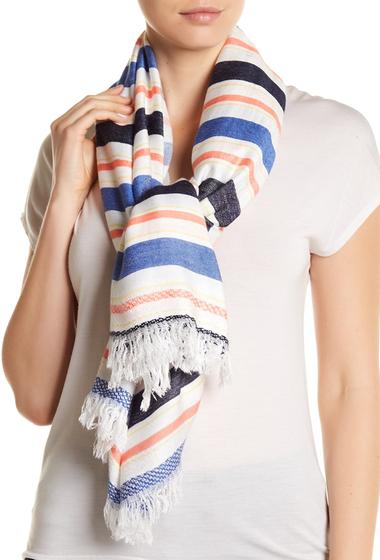 Accesorii Femei Roffe Accessories Frayed Trim Stripe Wrap Scarf MU