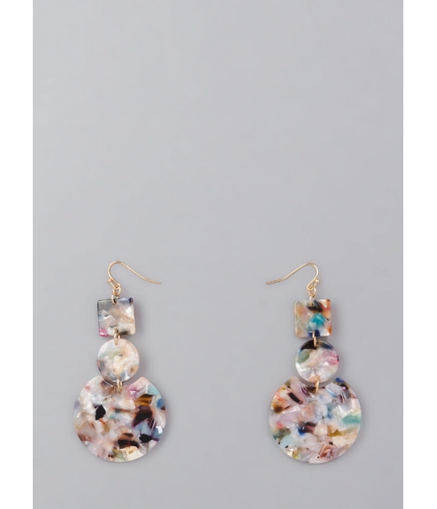 Bijuterii Femei CheapChic Learn Your Shapes Marbled Earrings Multi