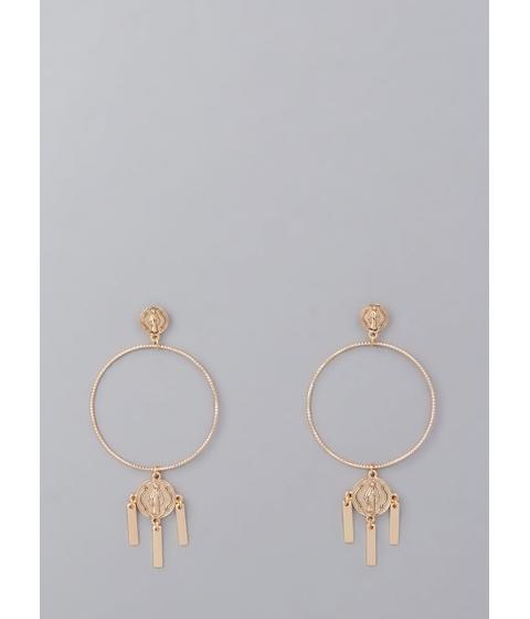 Bijuterii Femei CheapChic Pray Hard Oversized Hoop Earrings Gold