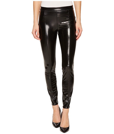 Imbracaminte Femei Blank NYC Shiny Vegan Leather High-Rise Pull-On Leggings in Smoke and Mirrors Smoke and Mirrors