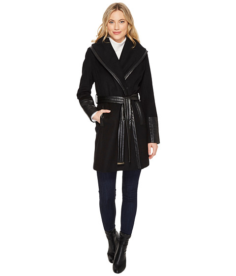 Imbracaminte Femei Via Spiga Black Hooded Belted Trench Black 1