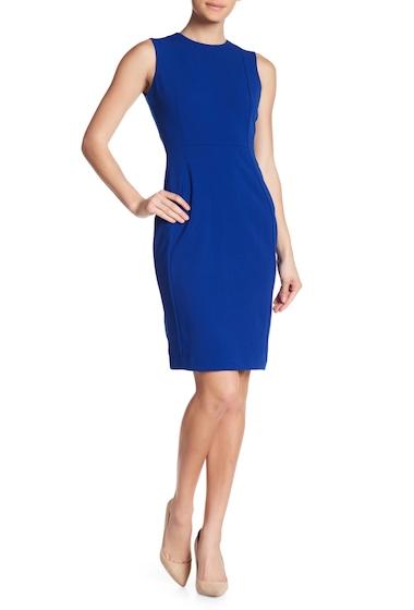 Imbracaminte Femei Modern American Designer Solid Crepe Sheath Dress REGATTA