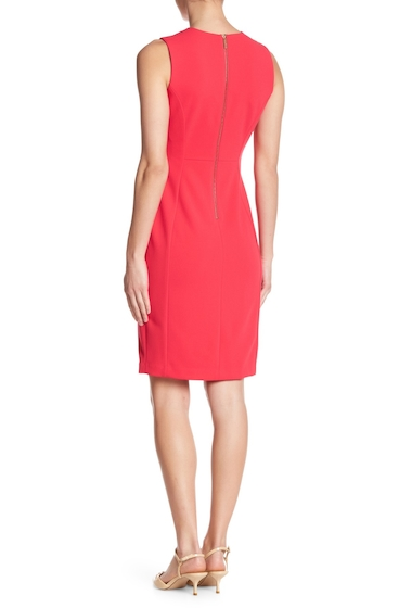 Imbracaminte Femei Modern American Designer Solid Crepe Sheath Dress LIPSTICK